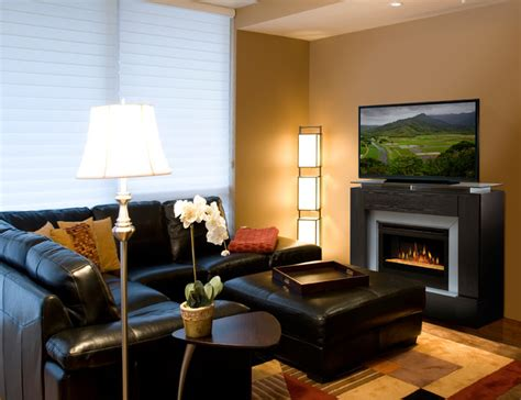 electric fireplace living room gorgeous living rooms contemporary family room other by electric fireplaces direct