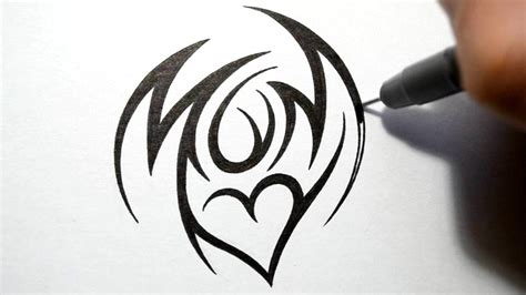 tribal mom tattoo how to draw tribal design style