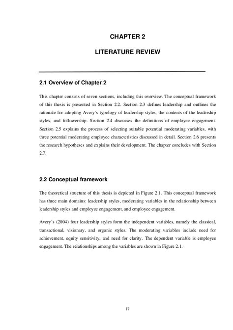 employee engagement dissertation thesis exle chapter 2 conceptual framework