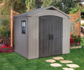 backyard storage shed keter factor 8x6 plastic storage shed 17190650 on sale now