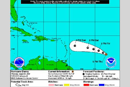 2015 projected path hurricane danny hurricane danny strengthens a little more nationnews