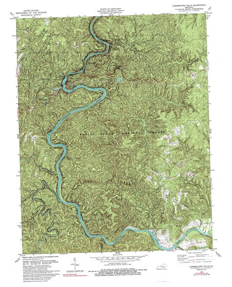 kentucky falls map cumberland falls topographic map ky usgs topo 36084g3