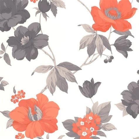 eden pattern wallpaper eden orange wallpaper contemporary wallpaper by