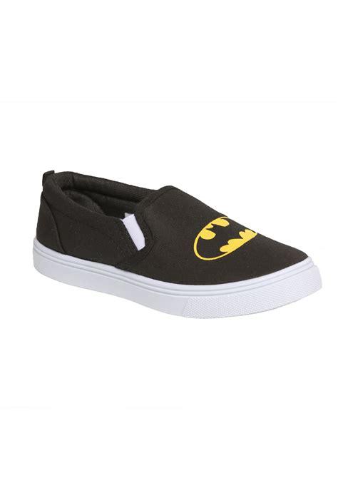 batman logo slip on canvas shoes for