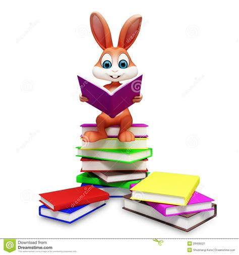 easter bunny book brown easter bunny with reading book stock image image