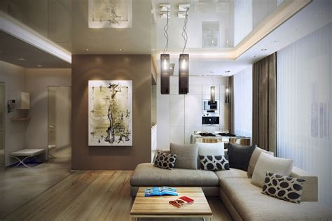 interior livingroom modern design in modest proportions