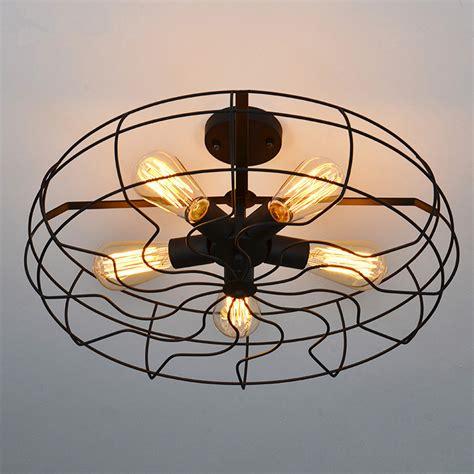 fan and light fixture steunk industrial vintage fan lshade pendant