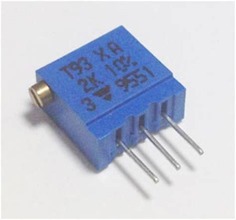vishay trimmer resistor 2k ohm trim pot variable resistor vishay t93xa202kt20 west florida components