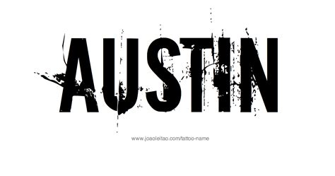 austin tattoos name designs