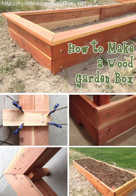 Best Wood For Garden Boxes by How To Build A Wood Garden Box Archives Food Storage