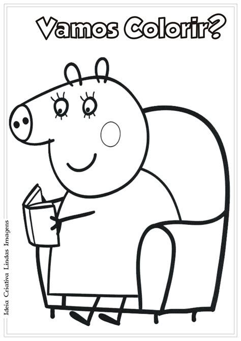 mama pig coloring page desenhos para colorir da peppa pig atividades para