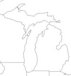 Printable Outline Of Michigan by Map Of Michigan A Source For All Kinds Of Maps Of Michigan