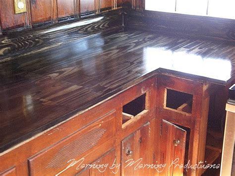 Diy Wood Kitchen Countertops Morning By Morning Productions Diy Kitchen Countertops