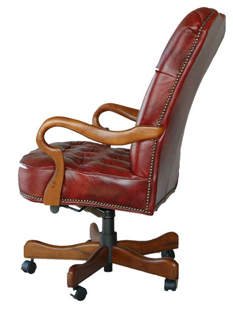 Best Leather Office Chair by Top Grain Leather Executive Office Desk Chair Ebay