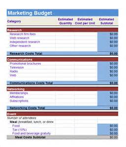 sales and marketing budget template marketing budget template 6 free documents in