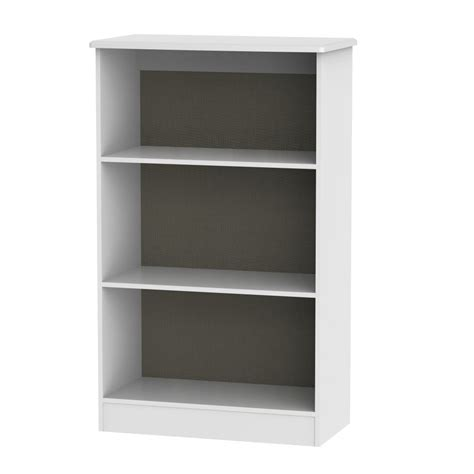 buy white bookcase buy knightsbridge white bookcase 2 shelves cfs uk