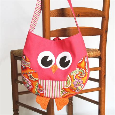 owl tote bag pattern free funky little owl bag immediate download of pdf sewing