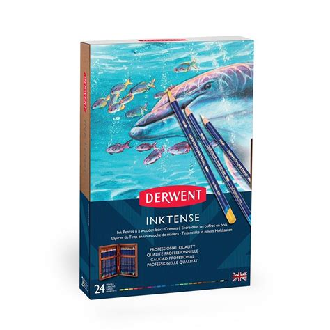 Derwent Watercolour Pencil 24 Set derwent inktense pencil wooden box set of 24