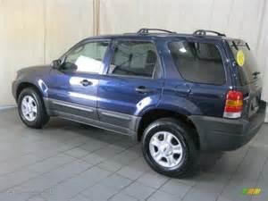 true blue metallic 2004 ford escape xlt v6 exterior photo