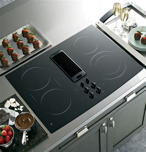 Best Cooktop Ge Profile Series 30 Quot Downdraft Electric Cooktop