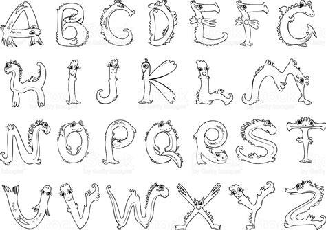 lettere con animali pagina da colorare alfabeto in forma di animali