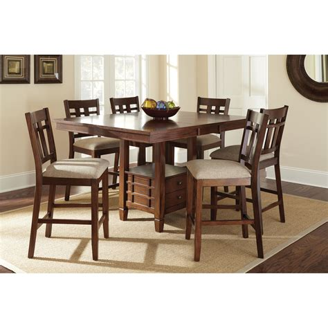 dining table set with storage steve silver bolton 7 counter height storage dining