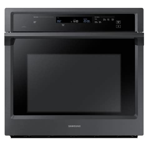 samsung 30 in single electric wall oven with steam cook and dual convection in fingerprint