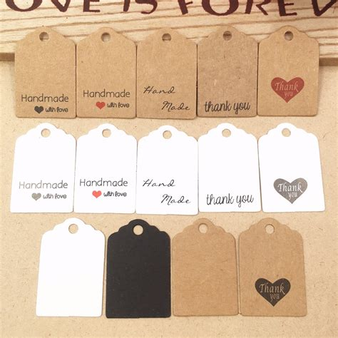 Handmade Price Tags - 200pcs kraft paper lovely gift tags diy handmade price