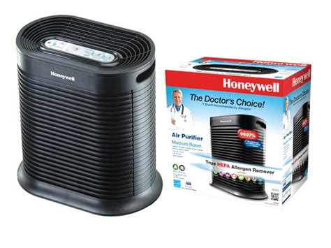 the honeywell hpa100 true hepa air purifier with allergen remover black honeywell air