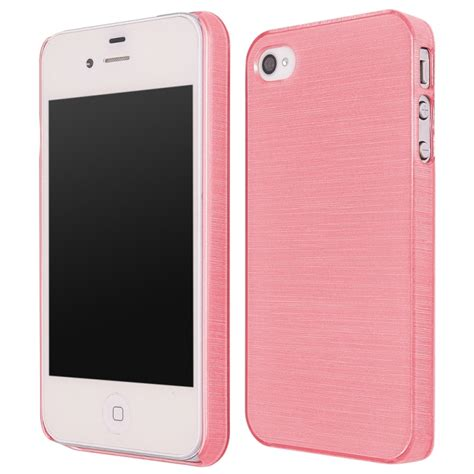 fundas iphone 4 4s funda movil back cover ht metallic pink para iphone 4 4s
