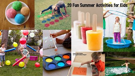 20 summer activities for preschoolers 20 fun summer activities for kids i dig pinterest