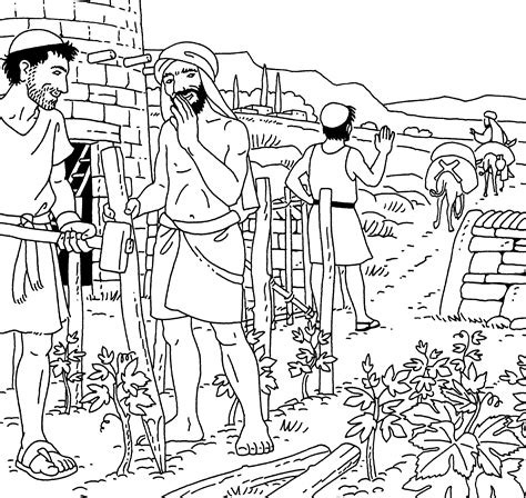 coloring pages jesus parables parable of the tenants coloring pages