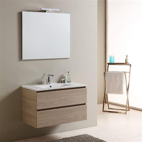 costo mobile bagno mobile bagno da 80 cm con lavabo in ceramica e cassetti
