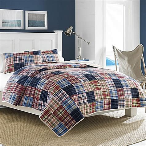 nautica comforters discontinued nautica 174 blaine quilt in red bed bath beyond