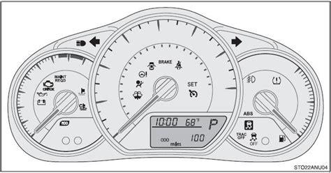toyota yaris dashboard warning lights toyota yaris indicators and warning lights instrument