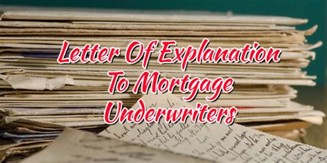 Letter Of Explanation For Usda Loan Letter Of Explanation To Mortgage Underwriters