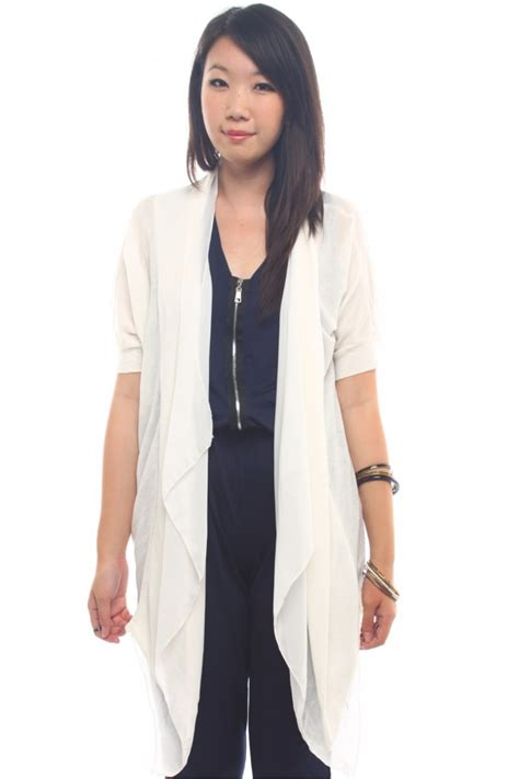 draped cardigan draped long cardigan the label junkie