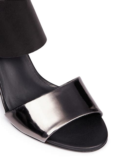 how to stretch leather sandals vince mirror band stretch leather sandals in