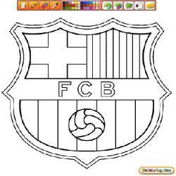 Coloriage De Foot Fc Barcelone Fc Barcelone Coloriage L
