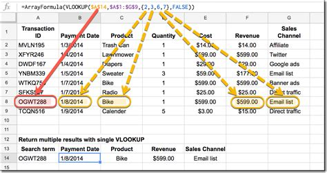 vlookup tutorial multiple values how to return multiple columns with vlookup function in