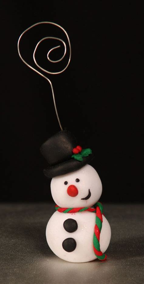 handmade fimo christmas place card holders or make trees