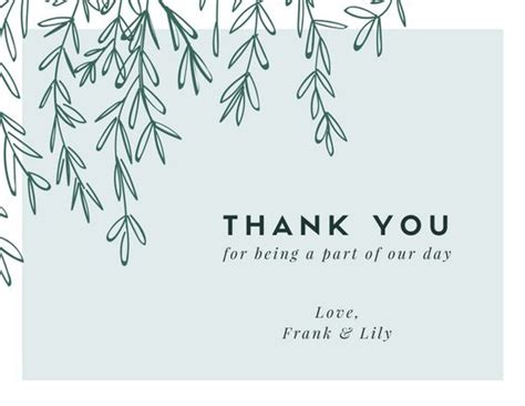 Wedding Thank You Card Working