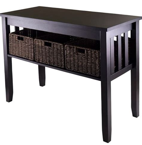 Black Sofa Table With Storage Video And Photos Black Sofa Table With Storage