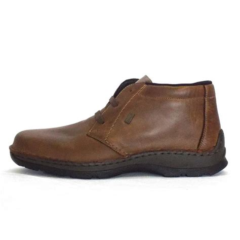 mens ankle boots rieker liam 05344 25 mens ankle boot in brown leather