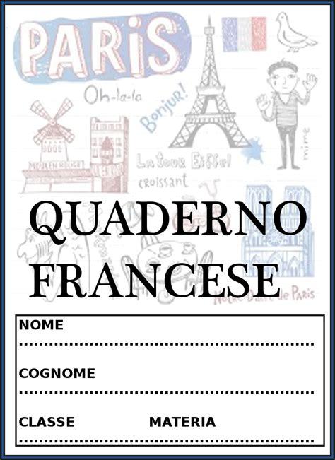 copertine da copertine per quaderni di francese
