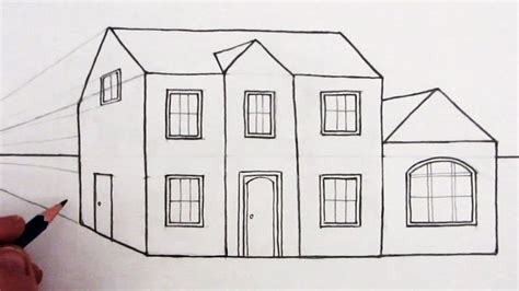 how to draw a 3d house simple house drawing easy potos house drawings