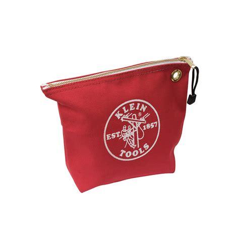 canvas zipper tool bag canvas zipper bag consumables red 5539red klein