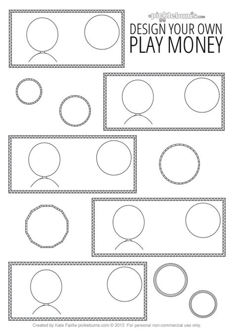 design your own printable play money picklebums
