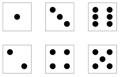 printable dice dot cards subitising order rhythm and pattern