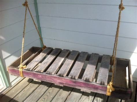 pallet bench swing reclaimed pallet wood porch swing outdoor swing pallet bench